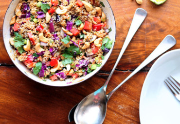 Crunchy-Cashew-Thai-Quinoa-Salad-with-Ginger-Peanut-Dressing-by-Monique-of-Ambitious-Kitchen-on-April-14-2013-410x273